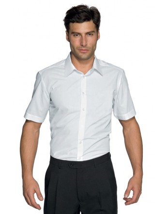 CAMISA CARTAGENA SLIM M/C. 97/3%STRETCH. BLANCO.