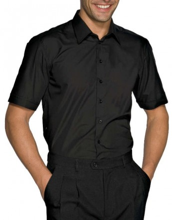 CAMISA CARTAGENA SLIM M/C. 97/3%STRETCH. NEGRO.