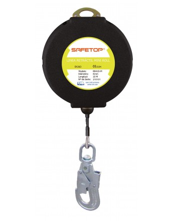 ANTICAIDAS RETRACTIL CABLE 10M MINI-ROLL
