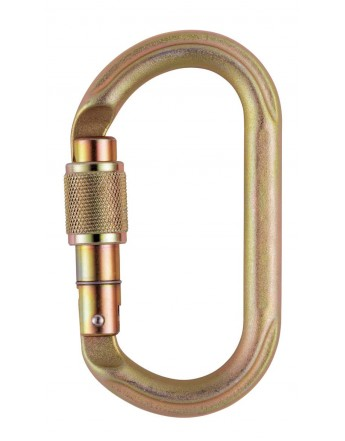 OXAN SCREW-LOCK, MOSQUETON DE ACERO OVAL