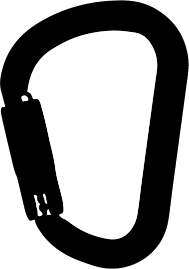 Mosquetón asimétrico